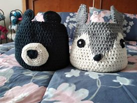 Bear and Fox baskets